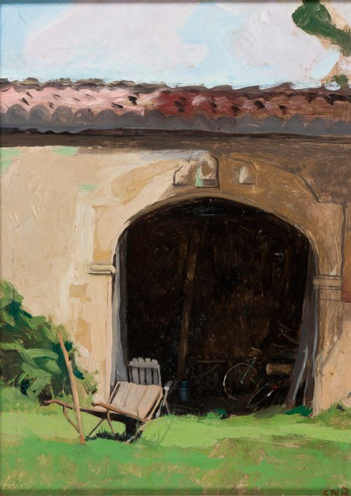 Sarah Raphael (1960-2001) 'Bicycle in a Barn'