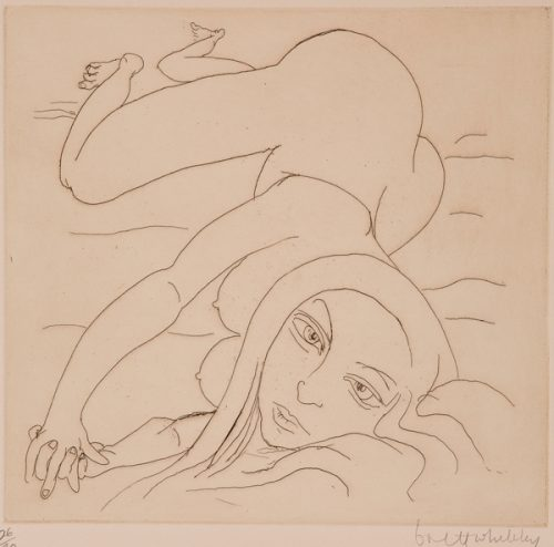 Brett Whiteley (1939-1992) Anna-Woman on a Bed, 1977