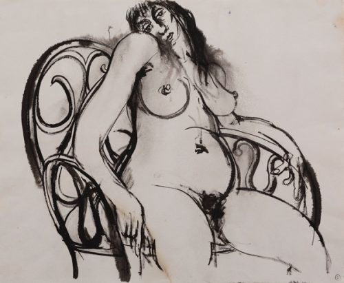 Brett Whiteley (1939-1992) Woman in Chair