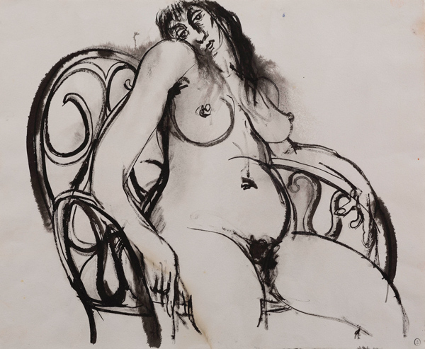 Brett Whiteley (1939-1992), Woman in Chair