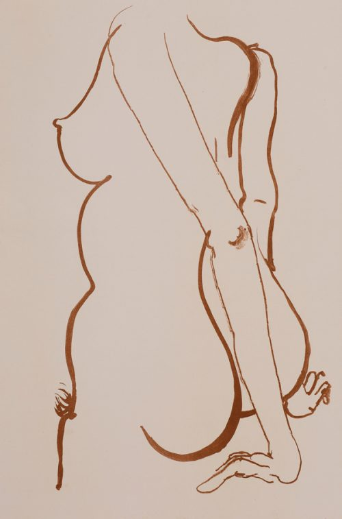 Brett Whiteley (1939-1992), Back 2, 1981 Colour lithograph.