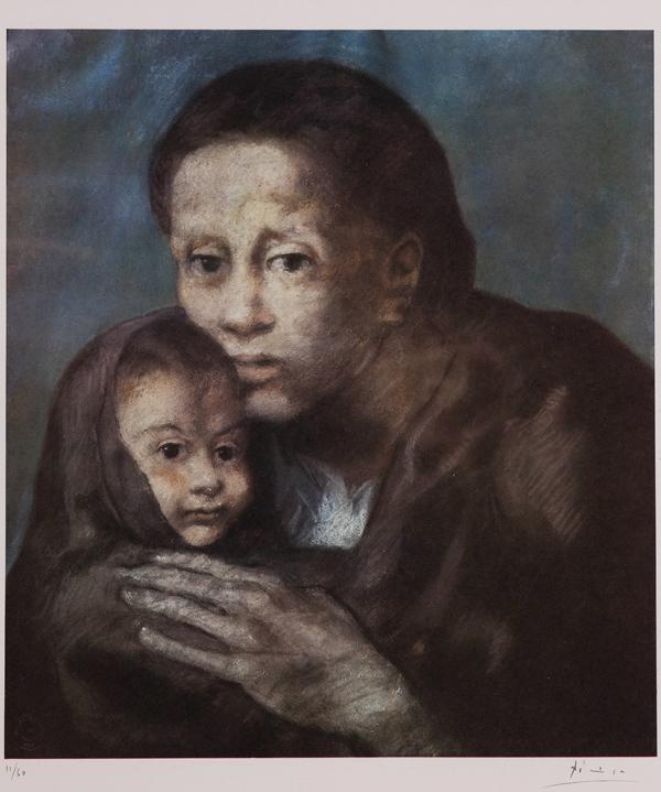 Pablo-Picasso-(1881-1973)-Mere-et-Enfant-au-Fichu