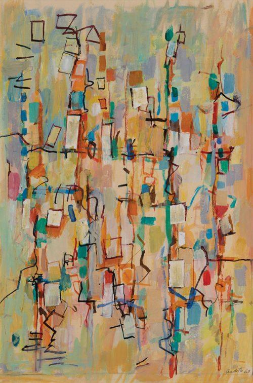 Yvonne Audette (Born 1930), Construction with Collage, 1963