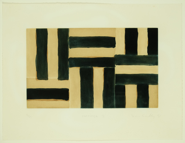 Sean Scully, Durango 11, 1991, Etching, Signed dated numbered. Framed.