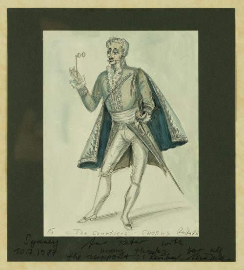 The Australian Opera, The Courtiers Chorus, Costume Design 1986