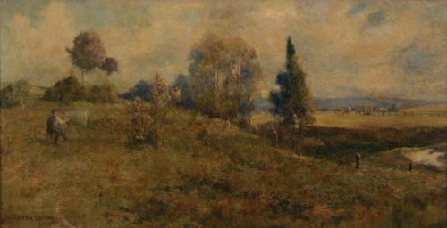William Lister Lister (1859-1943) Baling Hay, Summer Afternoon