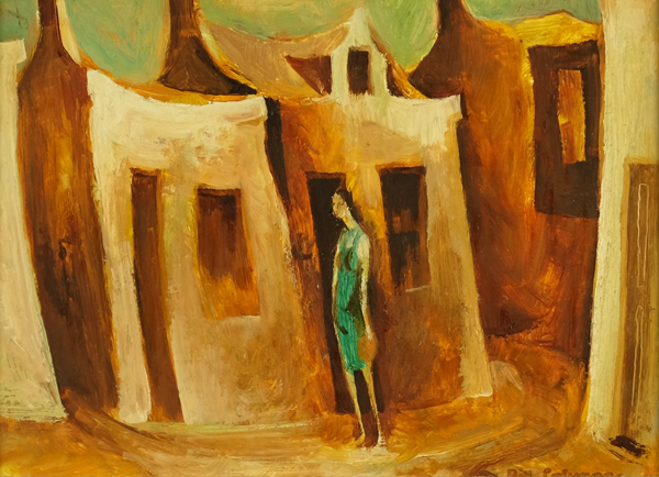 Bill Coleman, The Charwoman, Oil on board