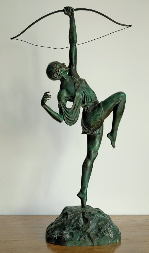 Pierre Le Faguays, Tireuse à l'arc, Bronze, Height 68 cm