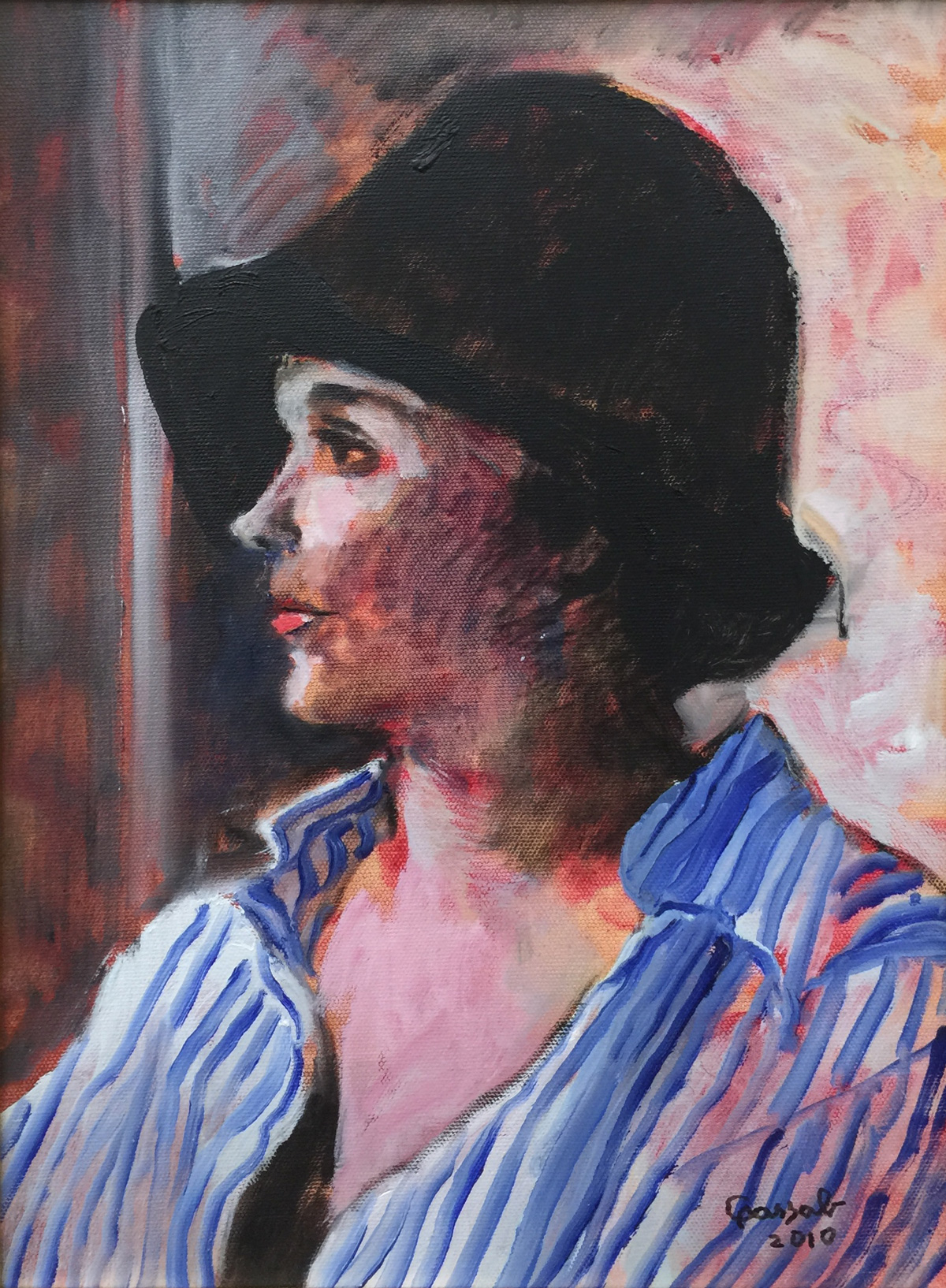 Judy Cassab (Born 1920), Black Hat