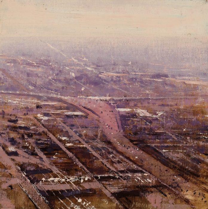 Quincoces,Alejandro, Autopista hacia el horizonte, 35×35