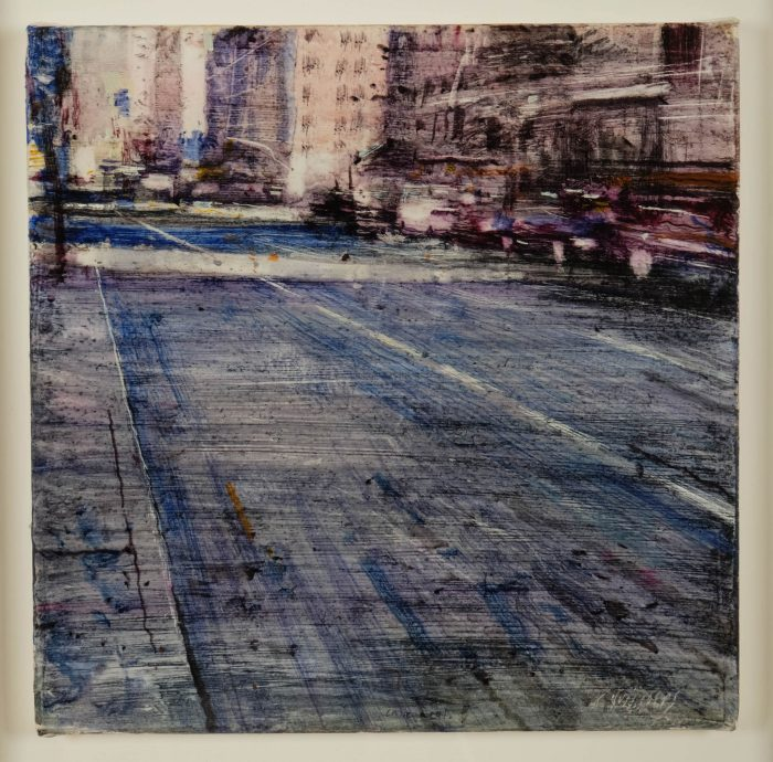 Quincoces,Alejandro, Calle azul, 35×35