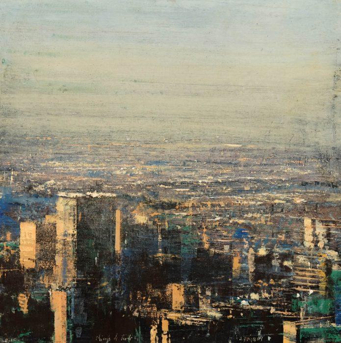 Quincoces,Alejandro, Chicago de tarde, 40×40