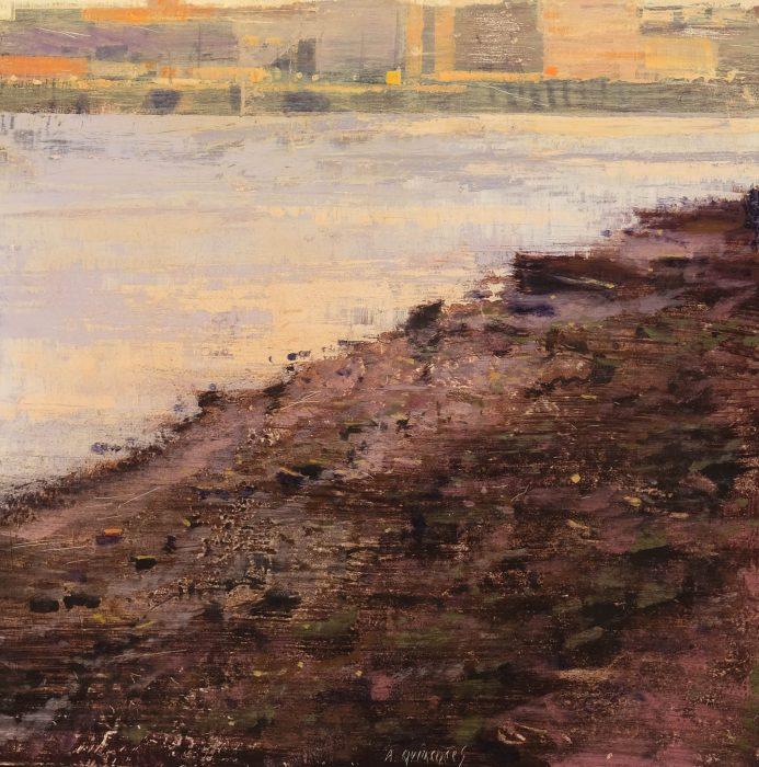 Quincoces,Alejandro, Luz de mañana con marea baja, 40x40_