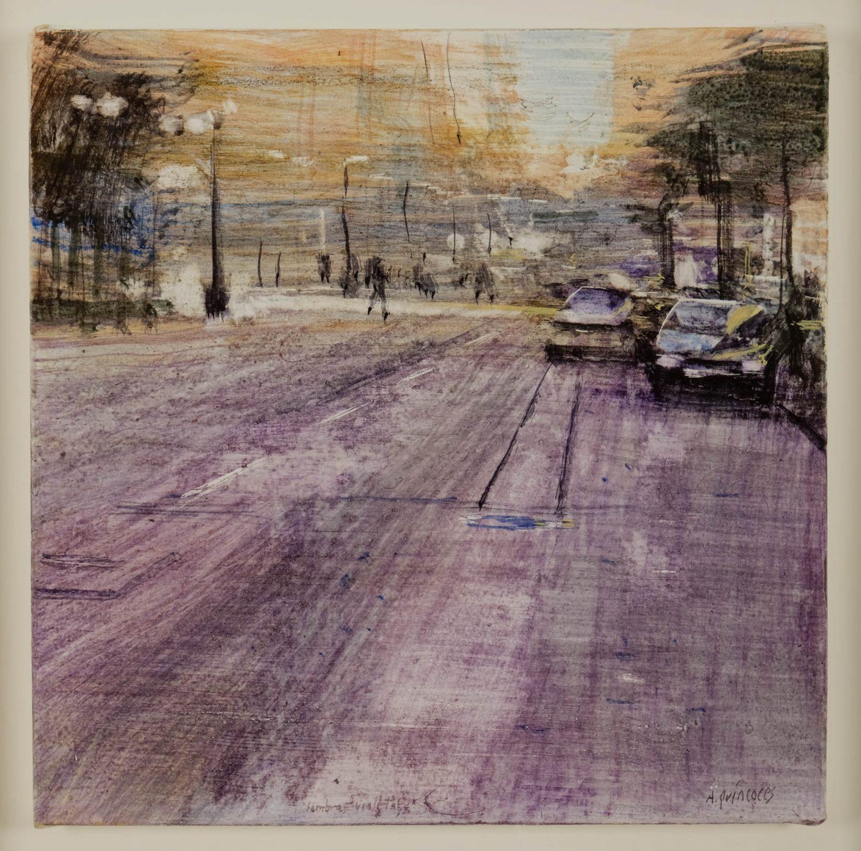 Quincoces,Alejandro, Sombras violetas, 35×35