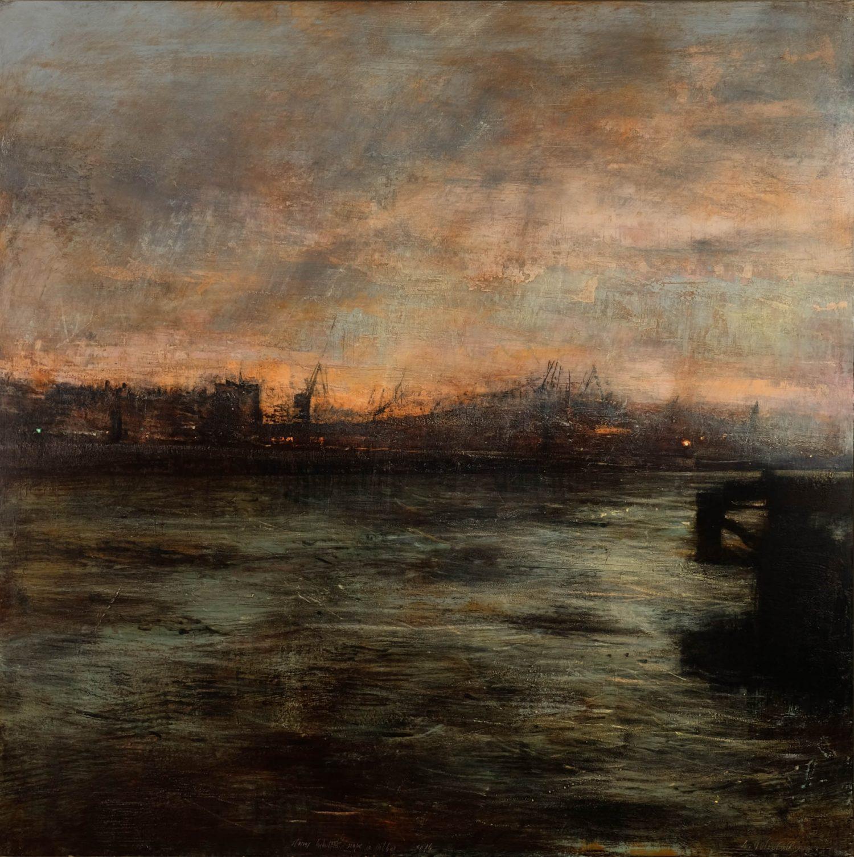 Quincoces,Alejandro, Stormy industrial in Bilbao, 150×150