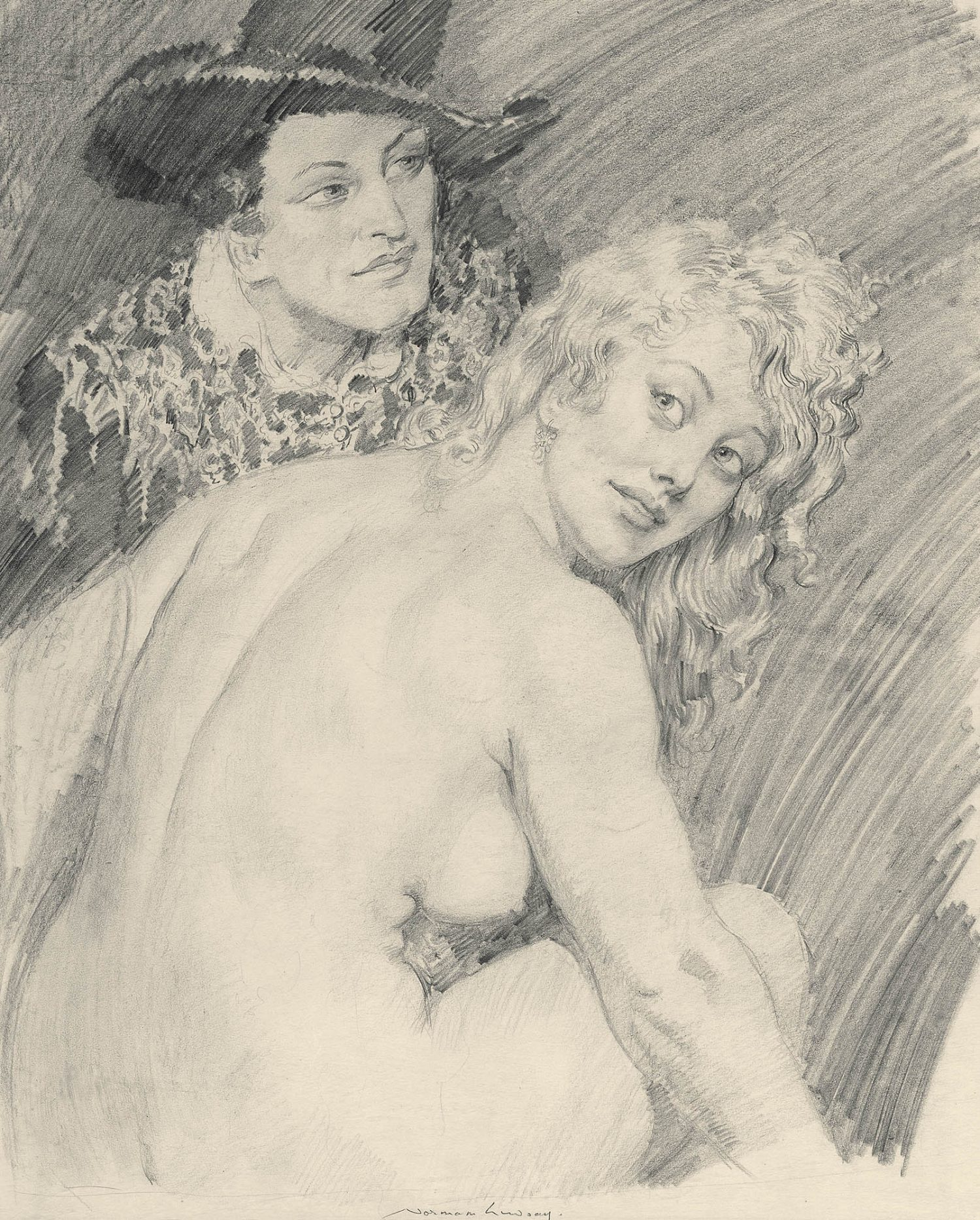 Norman Lindsay (1878-1969), Study for Marriage