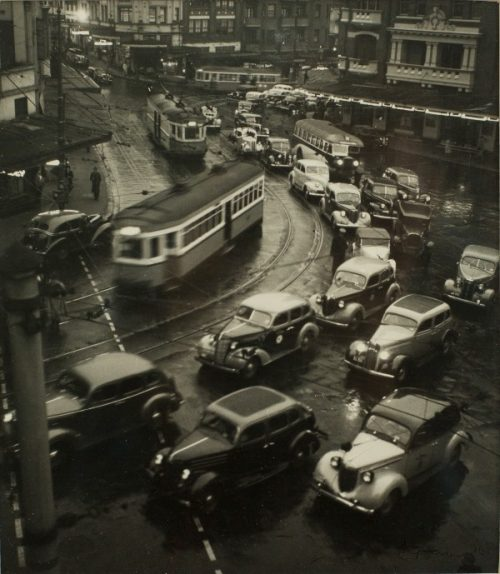 Max Dupain, Kings Cross at Dusk - Peak Hour (1937)