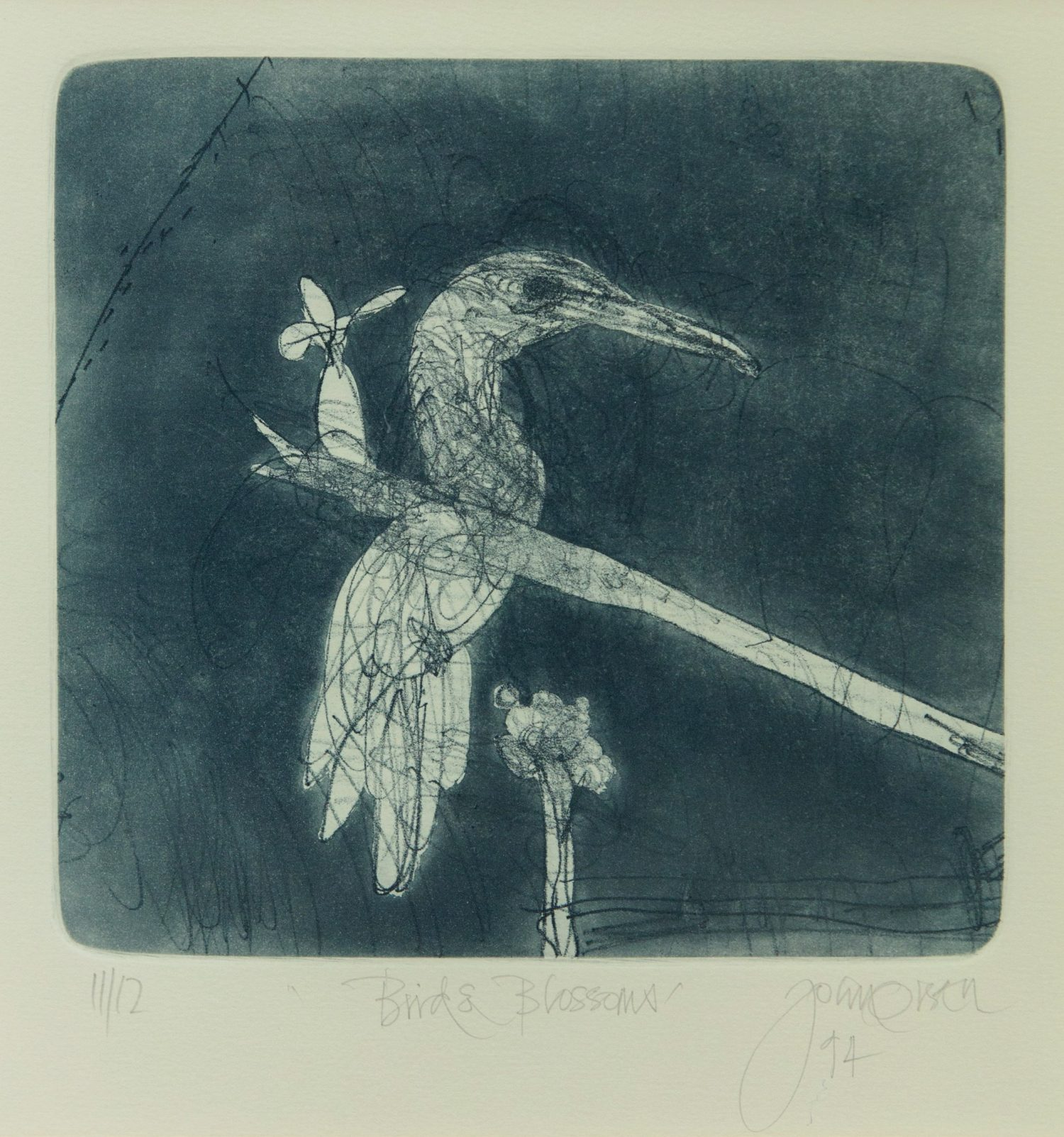 John Olsen, Birds & Blossoms (1994)