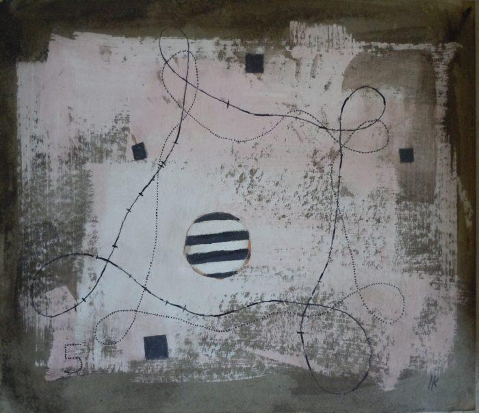 11 T016 Sin Titulo 2001 acrilico sobre carton 30×34.9cm