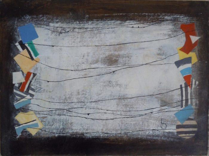 9 T047 Sin Titulo 2000 acrilico sobre carton 30 x 40,2 cm