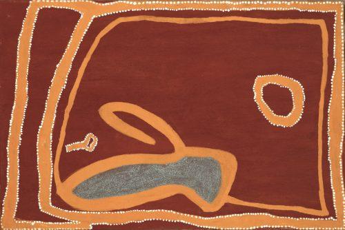 Rover Thomas Joolama (1926 - 1998), Goanna Hole