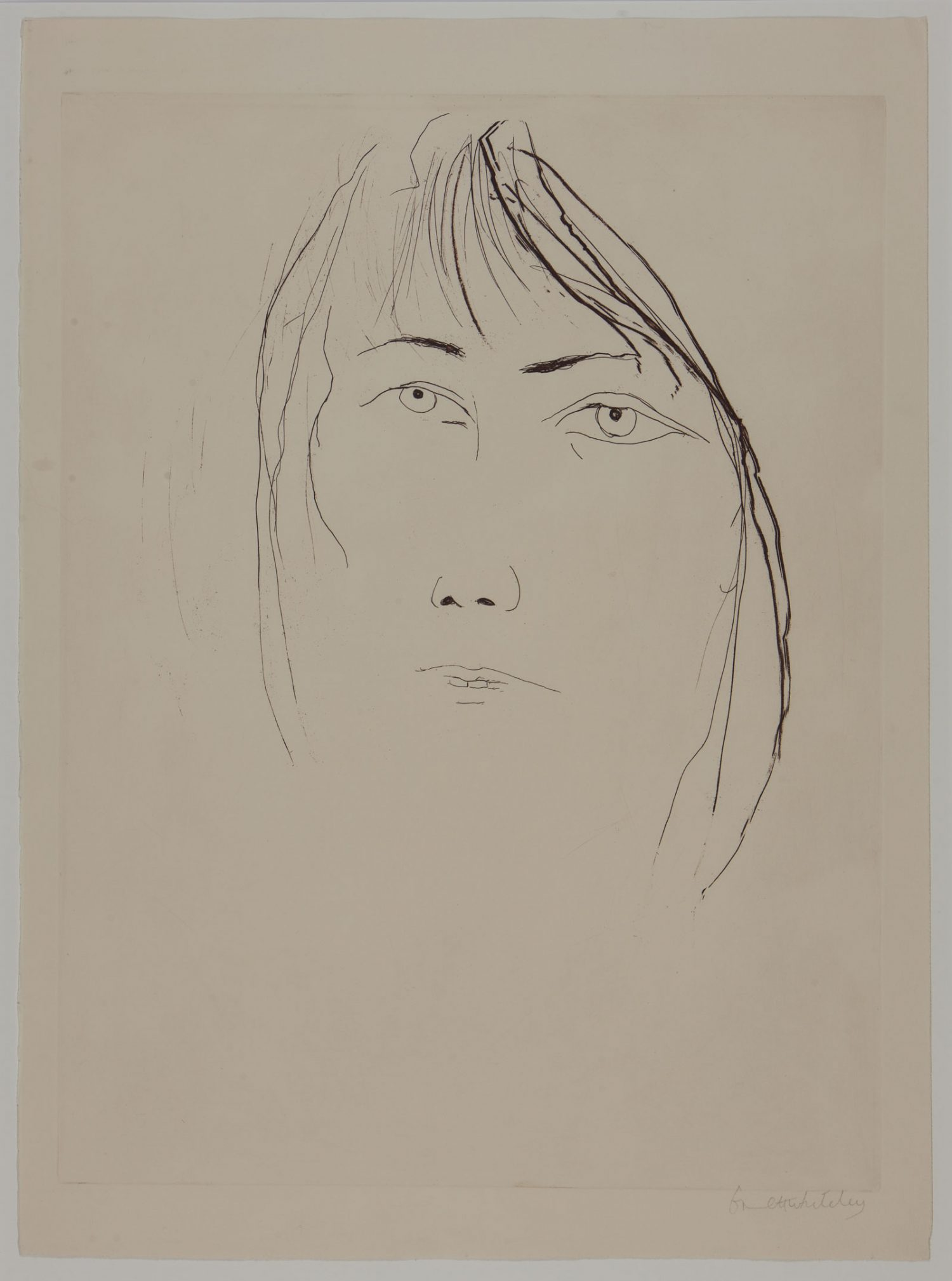 Brett Whiteley, Portrait of a woman