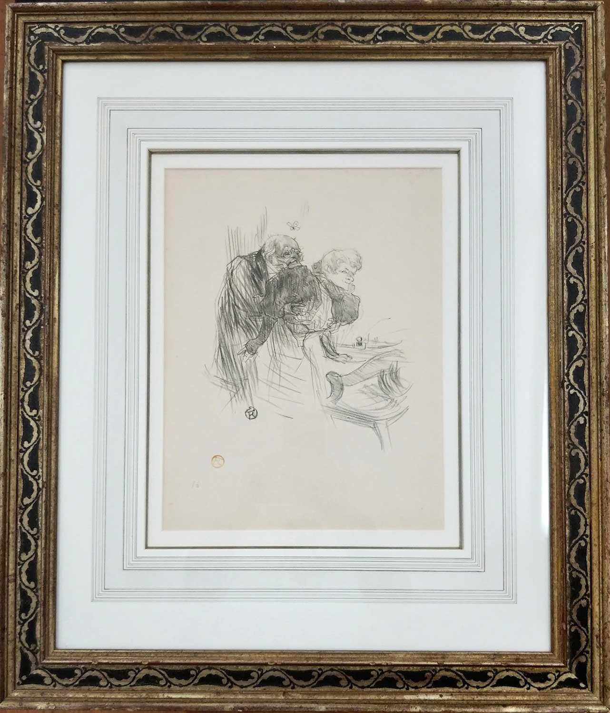 Henri De Toulouse-Lautrec Les Vieux Papillons Framed