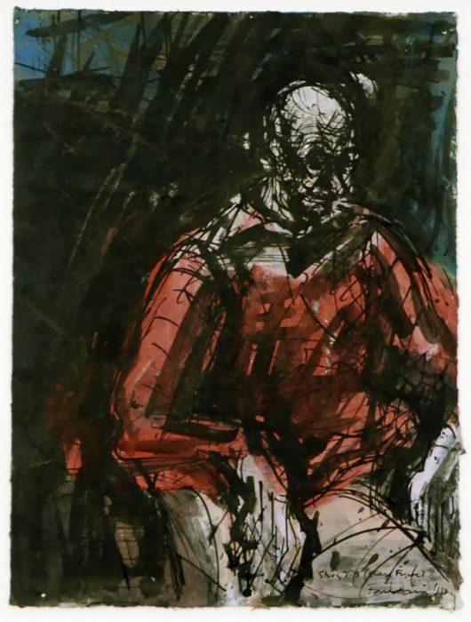 David FAIRBAIRN, Study W L (Orange Figure)