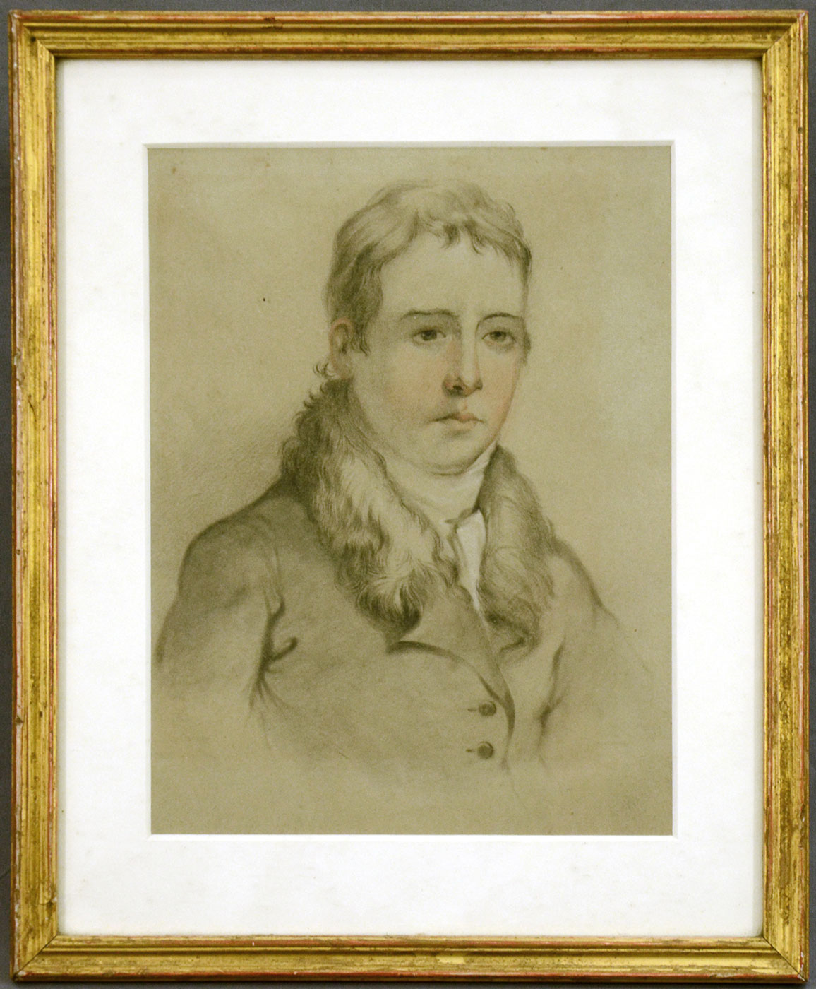 19th C British School, Study of a Young Man