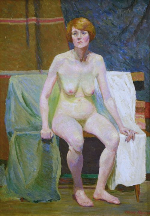 Constance Tempe MANNING, Seated Nude 1915