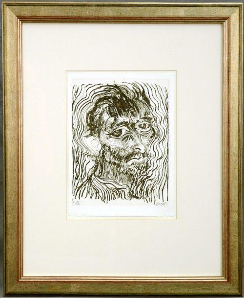 Brett Whiteley, 'Self Portrait, One of a Dozen Glimpses Framed