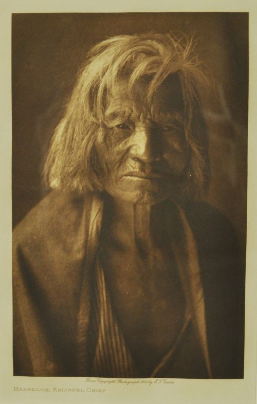 Edward S Curtis, Masselow, Kalispel Chief