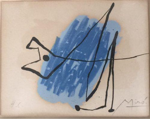 Joan Miro, La Chien Bleu (1957)