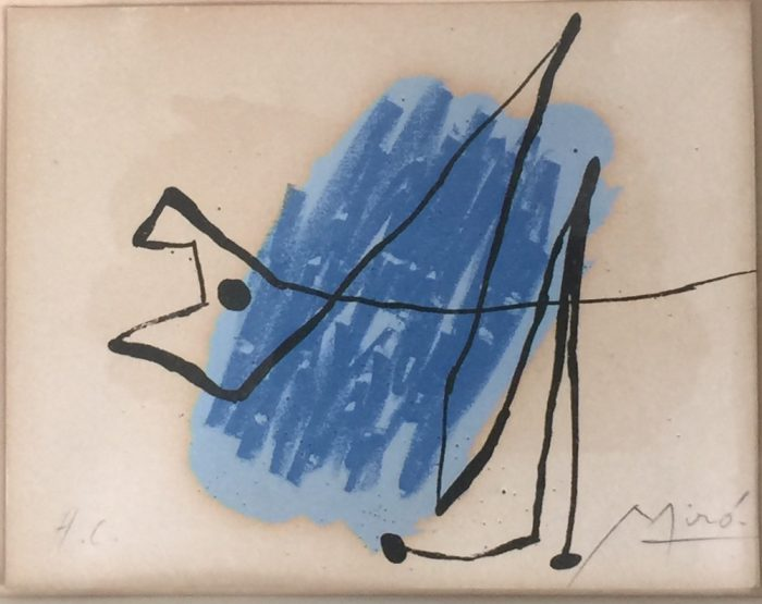 Joan Miro, La Chien Bleu 1957