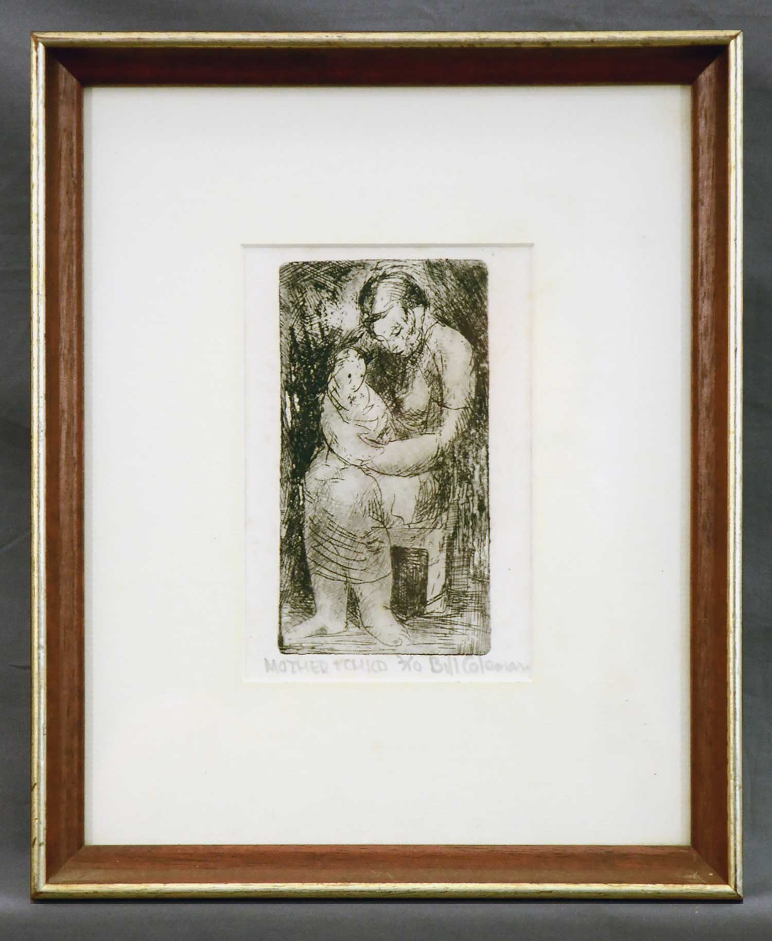 Bill Coleman Mother and Child artwork framed