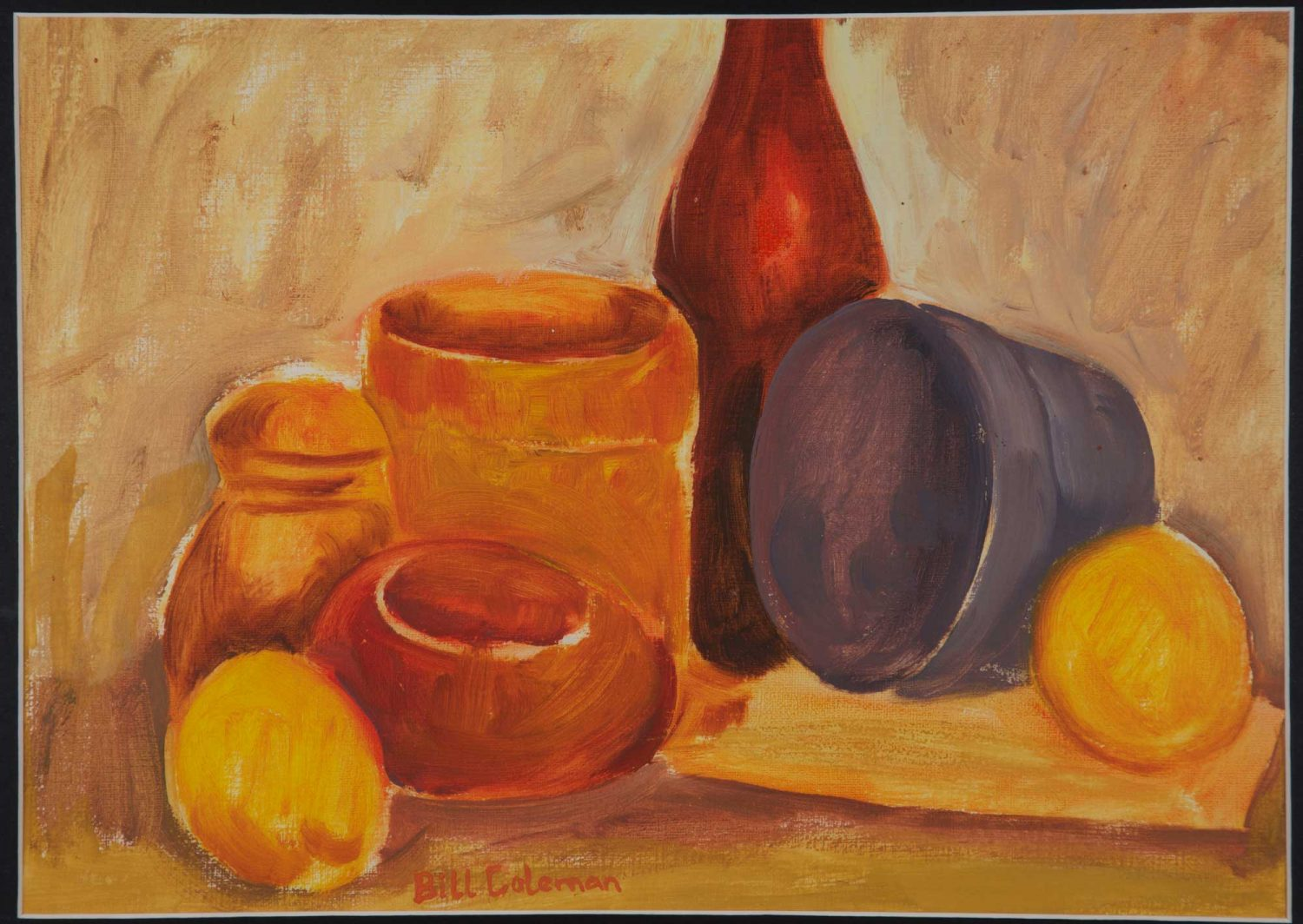 Bill Coleman Still Life with Fruit Jars and Bottles Artwork
