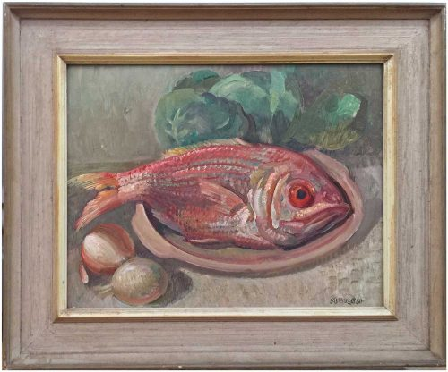 Arthur Murch Southern Red Snapper Painting in Frame