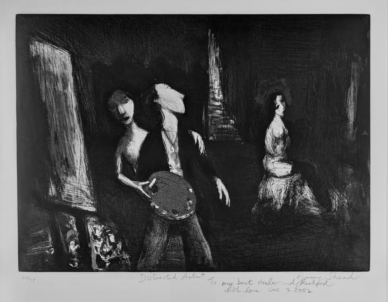 Garry Shead Distracted Artist artwork