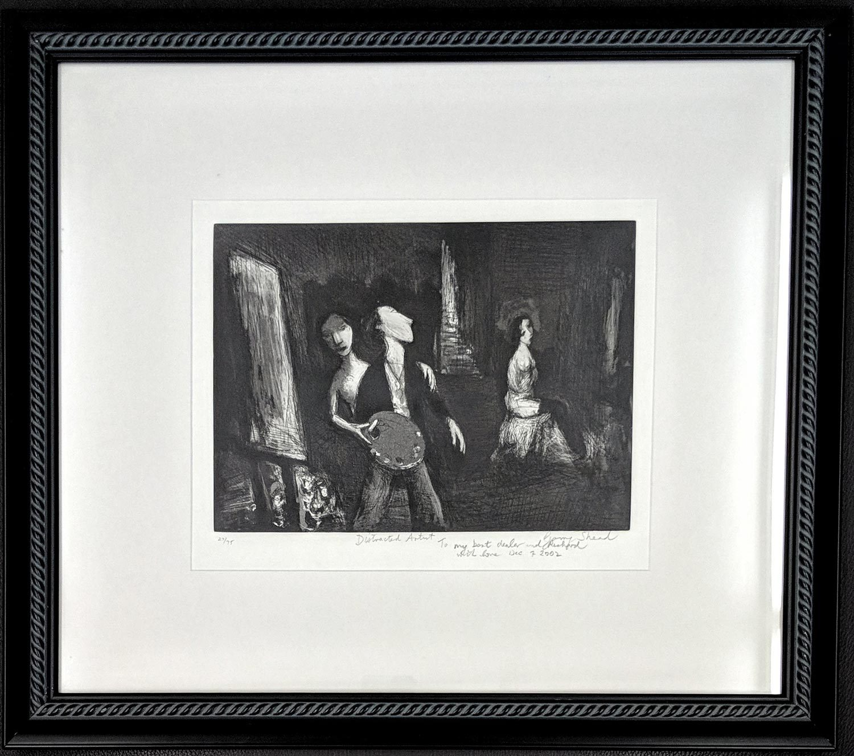 Garry Shead Distracted Artist artwork framed
