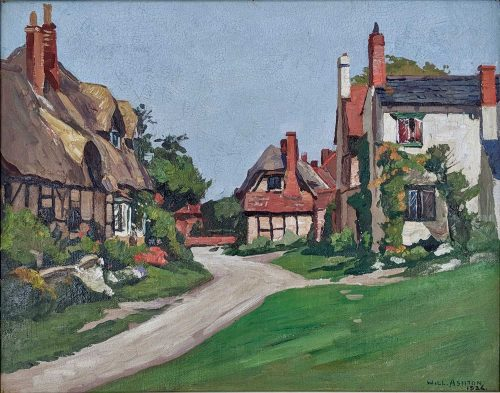 Will Ashton Untitled English Village Scene framed