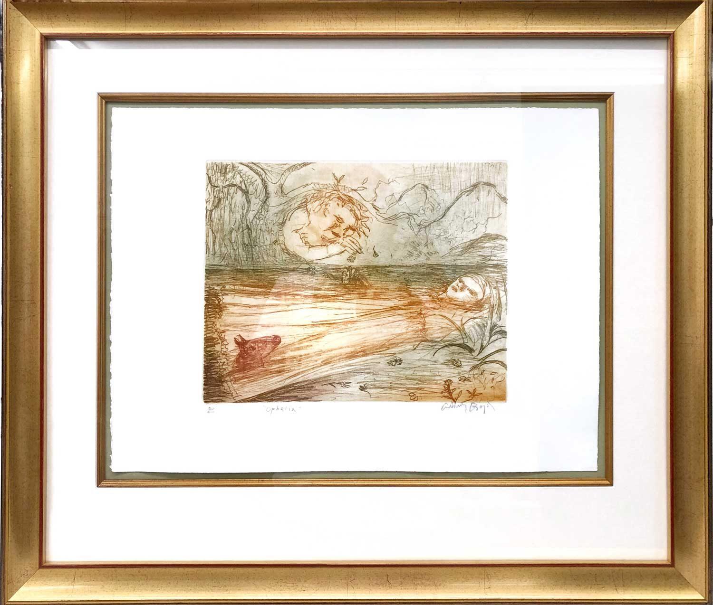 Arthur Merric Bloomfield Boyd AC OBE, Ophelia artwork in frame 02